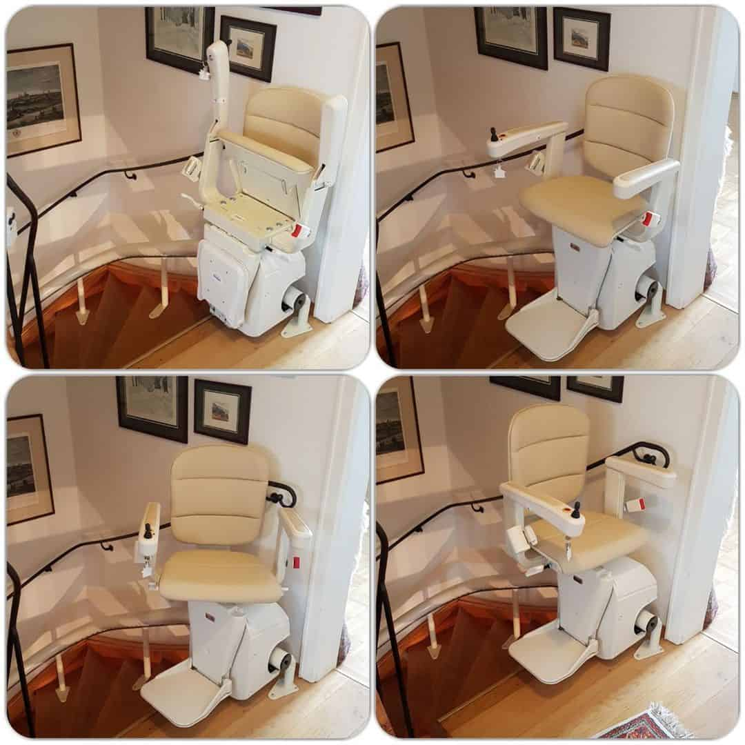 Treppenlift Stuhl montiert