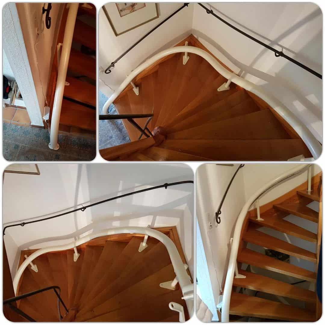 Treppenlift Schiene montiert